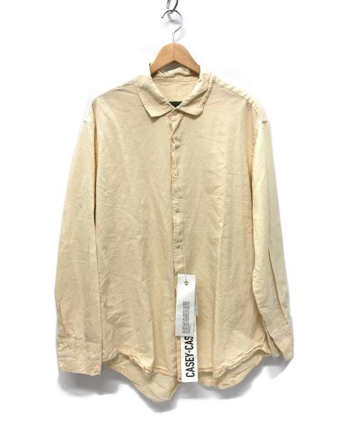 CASEY CASEY(ケーシーケーシー)CASEY CASEY (ケーシーケーシー) BIG RACCOURCIE SHIRT シャツ ナチュラル サイズ:M 15HC177 20AW BIG RACCOURCIE SHIRT-H PAPER NATURALの古着・服飾アイテム