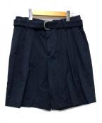 CellarDoor(セラードアー)の古着「ベルテッドショーツ パンツ」|ネイビー