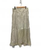 plantation(プランテーション)の古着「ペーパークラッシュツイル スカート」 アイボリー