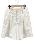 Ameri VINTAGE(アメリヴィンテージ)の古着「LITTLE LINEN OVER HALF PANTS  」 ホワイト