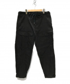 JUN MIKAMI(ジュン ミカミ)の古着「ナイロンカーゴパンツ」 ブラック