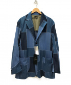 Needles()の古着「2B Jacket Polyester Jaquard 」|ブルー