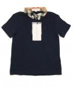 BURBERRY CHILDREN(バーバリー チルドレン)の古着「ノバチェックカラーポロシャツ」 ネイビー