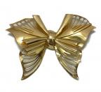 Christian Dior(クリスチャン ディオール)の古着「ビンテージ 蝶リボン ゴールドブローチ」