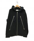 Maison Margiela 14(メゾンマルジェラ14)の古着「八の字 5Zip Sweat Parka パーカー」 ブラック