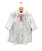 ()の古着「オーブ リピート ジャカード半袖シャツ」|ホワイト