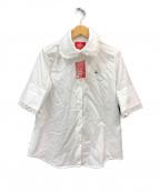 Vivienne Westwood RED LABEL(ヴィヴィアンウエストウッドレッドレーベル)の古着「オーブ リピート ジャカード半袖シャツ」|ホワイト