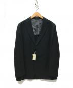 BEAMS F(ビームスエフ)の古着「REDA生地 ドビークロス 3Bジャケット」|ブラック
