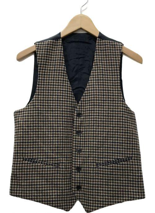 LARDINI(ラルディーニ)LARDINI (ラルディーニ) リバーシブルジレ ベスト ブラウン サイズ:44の古着・服飾アイテム