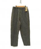 Pilgrim Surf+Supply(ピルグリム サーフ+サプライ)の古着「Harry Aizu Easy Pant パンツ」 ブラック×ベージュ