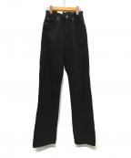leno(リノ)の古着「LOOSE STRAIGHT JEANS -BLACK」|ブラック