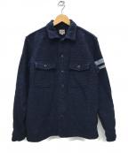 MOMOTARO JEANS(桃太郎ジーンズ)の古着「出陣 刺し子 シャツジャケット」 インディゴ