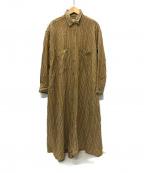 ticca(ティッカ)の古着「フレアロングシャツワンピース」 ベージュ