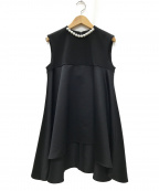 YOKO CHAN(ヨーコチャン)の古着「Pearl A-line Blouse パール ブラウス」 ブラック