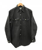 MADISON BLUE(マディソンブルー)の古着「HAMPTON BACK SATIN SHIRT シャツ」 グレー