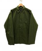 GOLDWIN(ゴールドウイン)の古着「コーデュラ タイプライターカバーオールシャツ」|カーキ