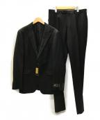 COMME CA MEN(コムサメン)の古着「CERRUTI ウールギャバジン 3ピースセットアップスーツ」 ブラック
