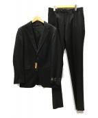 COMME CA MEN(コムサメン)の古着「CERRUTI ウールギャバジン 3ピースセットアップスーツ」|ブラック