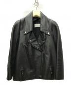 Maison Margiela 1(メゾンマルジェラ 1)の古着「ダブルライダース レザージャケット」|ブラック