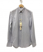 GUY ROVER(ギローバー)の古着「マルチストライプ タブカラーシャツ」|パープル×ホワイト