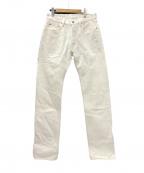 IRON HEART(アイアンハート)の古着「634S-WH 21ozセルビッチデニムパンツ」 ホワイト