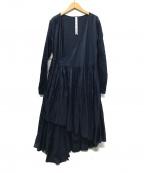 merlette(マーレット)の古着「カシュクールティアードワンピース」 ネイビー