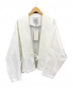 ()の古着「Shaw Collar Cotton Cardigan」|ホワイト