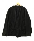 COMOLI(コモリ)の古着「コットンサテン ハンティングジャケット」|ブラック