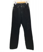 ()の古着「LOOSE STRAIGHT JEANS デニムパンツ」|ブラック