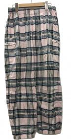 SUPREME()の古着「Tartan Flannel Skate Pant パンツ」|ピンク