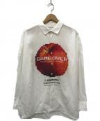 SHAREEF(シャリーフ)の古着「DOT APPLE BIG SHIRTS シャツ」 ホワイト