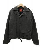 ()の古着「旧DENIMEウールワンスターライダースジャケット」|ブラウングレー
