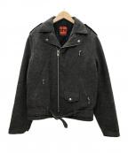 DENIME(ドゥニーム)の古着「旧DENIMEウールワンスターライダースジャケット」|ブラウングレー