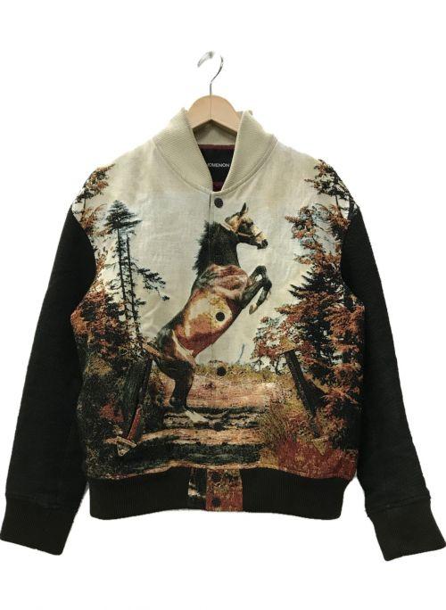 PHENOMENON(フェノメノン)PHENOMENON (フェノメノン) 12AW ジャガード織 ホーススタジャン アイボリー サイズ:40の古着・服飾アイテム