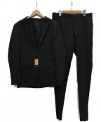 COMME CA MEN(コムサメン)の古着「バーズアイ2Bセットアップスーツ」 チャコールグレー