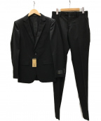 COMME CA MEN(コムサメン)の古着「CERRUTIナイロン2Bセットアップスーツ」 ブラック