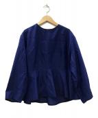 ()の古着「コットンシルクペプラムブラウス」|ブルー