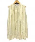 Veritecoeur(ヴェリテクール)の古着「スリーブレスギャザーブラウス」|オフホワイト
