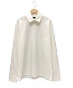 KOLOR(カラー)の古着「COLLAR L/S T-SHIRT カットソーシャツ」|ホワイト
