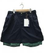 KOLOR(カラー)の古着「21SS ナイロンチノクロスショーツ パンツ」|ネイビー