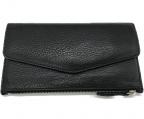 Martin Margiela11(マルタンマルジェラ11)の古着「フラップロングウォレット 財布」|ブラック