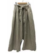 ()の古着「ベルテッドリネンワイドパンツ」|キナリ