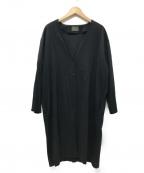 オローネ(オローネ)の古着「シャツワンピース」|ブラック
