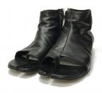 Maison Margiela 22(メゾンマルジェラ 22)の古着「オープントゥ足袋 TABI ショートブーツ」 ブラック×シルバー