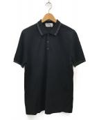()の古着「ガンチーニ刺繍ポロシャツ」|ブラック×オリーブ
