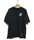 ()の古着「LOGO LINE Tee コラボTシャツ」|ブラック