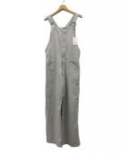 ()の古着「21SS Cotton Linen Canvasオーバーオル」|ライトグレー