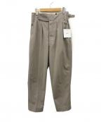 NEAT(ニート)の古着「Loose Chino Beltless  2タックパンツ」|グレー