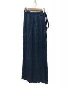 ()の古着「ラップスカート」|ブルー