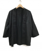 TROVE(トローブ)の古着「和ローブ羽織ジャケット」|ブラック